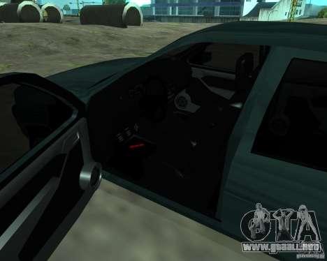 Opel Vectra GSiT 16V para GTA San Andreas vista hacia atrás