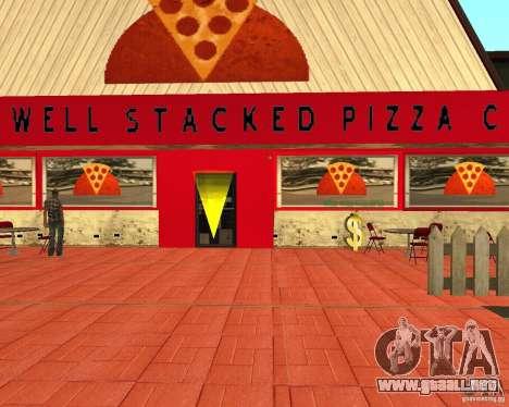 Comprar pizza para GTA San Andreas sucesivamente de pantalla