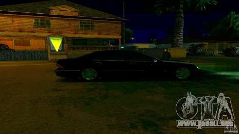 Mercedes S500 para GTA San Andreas vista posterior izquierda