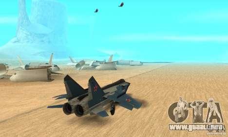 MiG-31 Foxhound para GTA San Andreas left