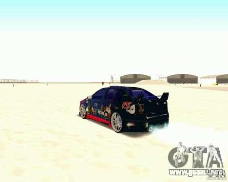 Skoda Octavia III Tuning para GTA San Andreas vista hacia atrás