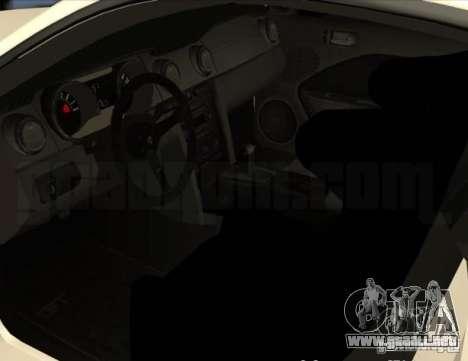 Ford Mustang GT Lowlife para GTA 4 vista hacia atrás