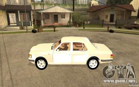 Bentley Turbo RT para GTA San Andreas left