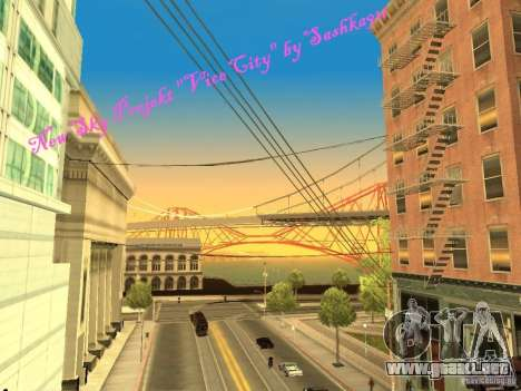 New Sky Vice City para GTA San Andreas