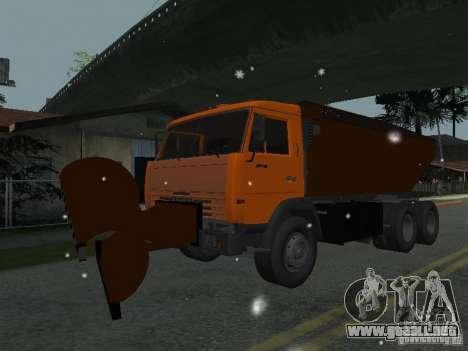 KAMAZ 53215 para GTA San Andreas vista posterior izquierda