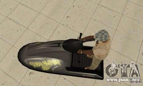 Moto de agua para vista lateral GTA San Andreas