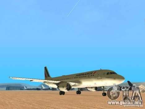 Airbus A320 Air France para GTA San Andreas left