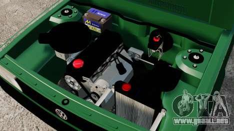 Volkswagen Gol GL 1992 Edit para GTA 4 vista interior