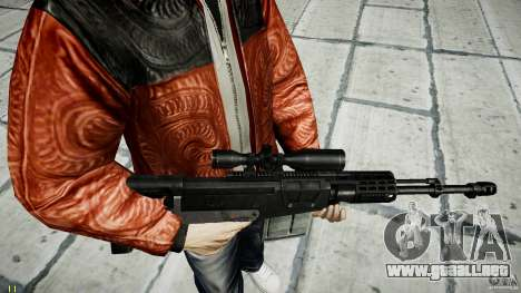 Accuracy International AS50 para GTA 4 sexto de pantalla