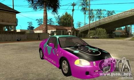 Honda CRX - DelSol para GTA San Andreas vista hacia atrás