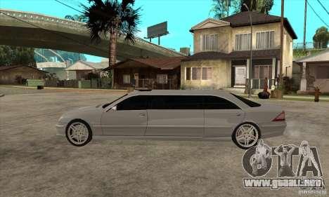 Mercedes-Benz CL65 Limusine para GTA San Andreas left