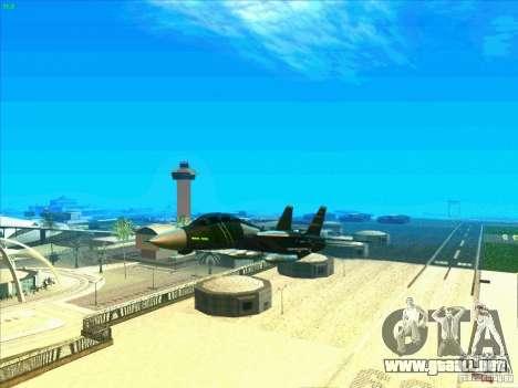 F-14 Tomcat Schnee para vista inferior GTA San Andreas