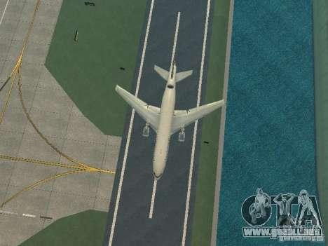 McDonell Douglas DC10 Continental Airlines para visión interna GTA San Andreas