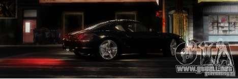 Porsche Cayman para GTA 4 vista hacia atrás