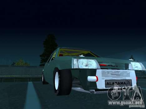 Arrastre VAZ 2109 para GTA San Andreas vista hacia atrás