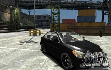 Hyundai Accent 2006 para GTA 4 vista hacia atrás