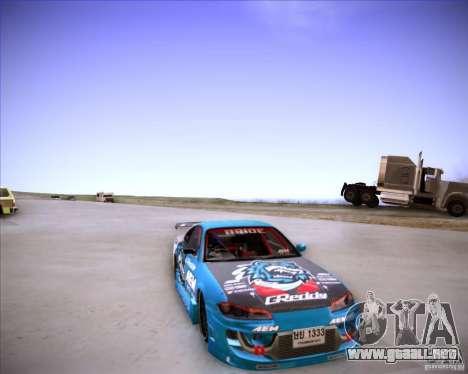 Nissan Silvia S15 Blue Tiger para GTA San Andreas vista hacia atrás