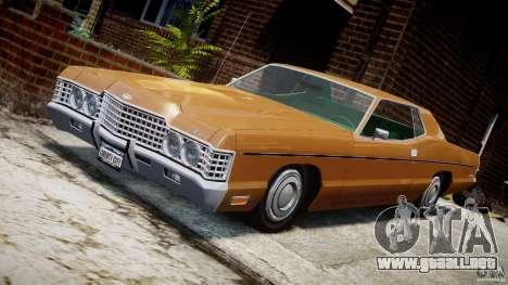 Mercury Monterey 2DR 1972 para GTA 4 vista desde abajo