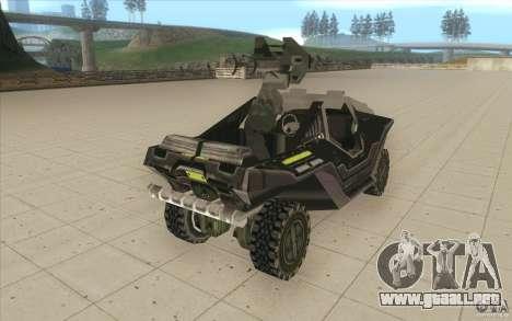 Halo Warthog para visión interna GTA San Andreas