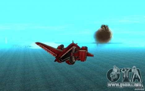 MOSKIT air Command and Conquer 3 para GTA San Andreas vista hacia atrás