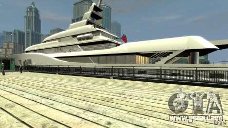 Yacht v1 para GTA 4 adelante de pantalla