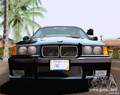 BMW M3 E36 New Wheels para vista lateral GTA San Andreas