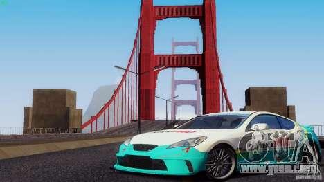 Hyundai Genesis Tunable para vista inferior GTA San Andreas