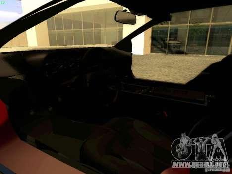 DeLorean DMC-12 V8 para GTA San Andreas vista hacia atrás