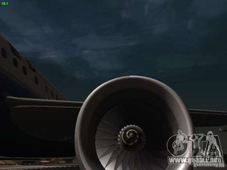 Airbus A319 United Airlines para vista lateral GTA San Andreas