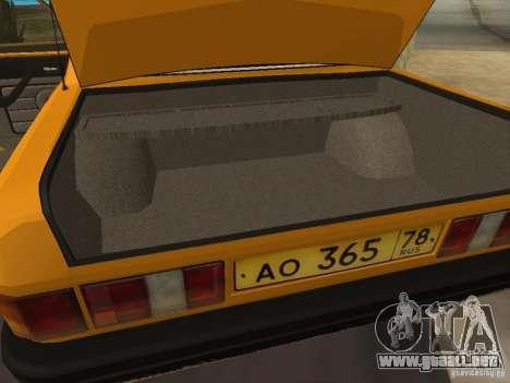 GAZ 31029 Taxi para vista lateral GTA San Andreas