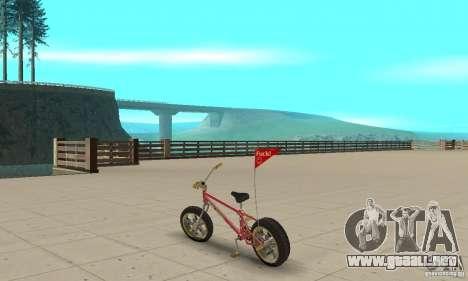 BMX Long 2 New Wheel para GTA San Andreas vista posterior izquierda