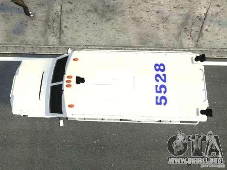 Lenco Bearcat NYPD ESU V.2 para GTA 4 vista hacia atrás
