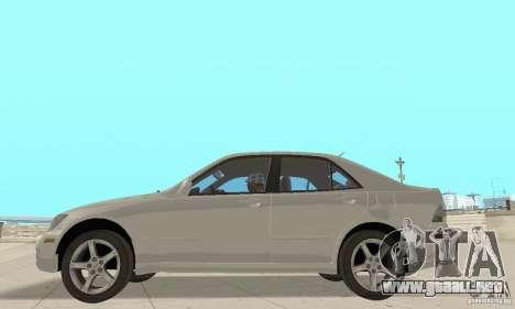 Lexus IS300 Stock para la visión correcta GTA San Andreas