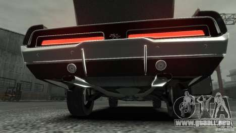 Dodge Charger RT 1969 Tun para GTA 4 vista interior