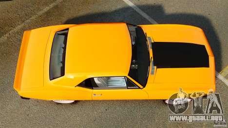 Chevrolet Camaro Z28 1969 para GTA 4 visión correcta