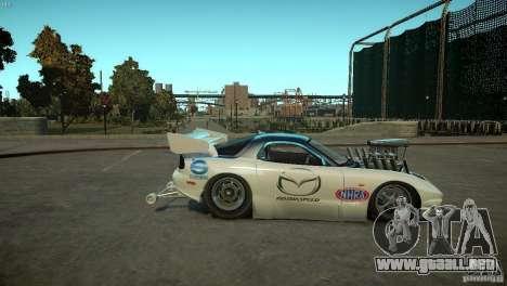 Mazda rx7 Dragster para GTA 4 vista hacia atrás