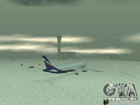 El Airbus A330-300 Aeroflot para GTA San Andreas vista hacia atrás
