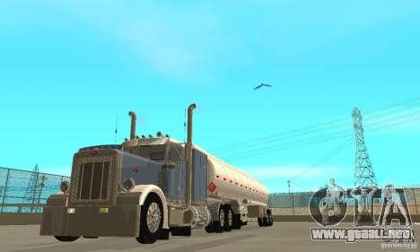 Peterbilt 379 Custom And Tanker Trailer para visión interna GTA San Andreas