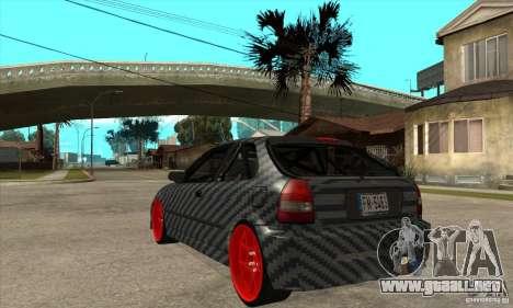 Honda Civic Carbon Latvian Skin para la visión correcta GTA San Andreas