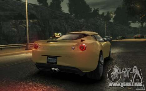 Lotus Evora 2009 para GTA 4 visión correcta