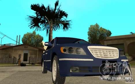 Hyundai Azera 2009 arb drift para GTA San Andreas vista hacia atrás