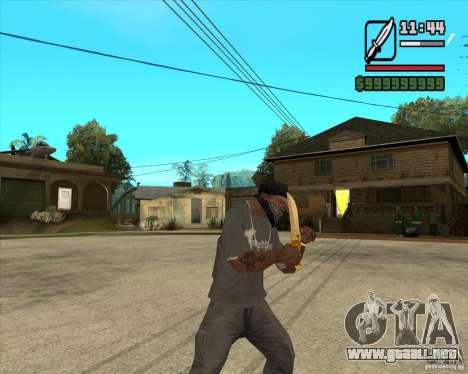 Cuchillo del príncipe para GTA San Andreas tercera pantalla