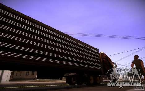 Box Trailer para GTA San Andreas vista posterior izquierda