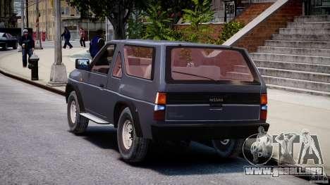 Nissan Terrano para GTA 4 Vista posterior izquierda