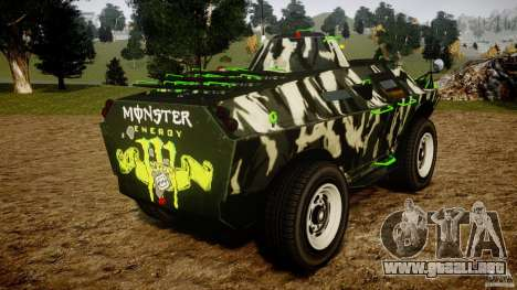 Monster APC para GTA 4 Vista posterior izquierda