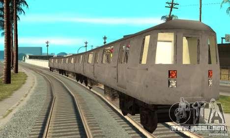 Liberty City Train GTA3 para GTA San Andreas vista posterior izquierda