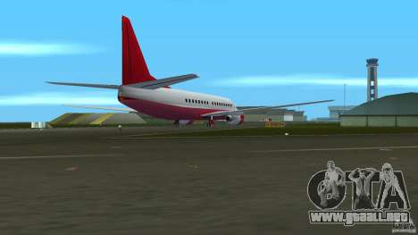 Boeing 737 para GTA Vice City vista lateral izquierdo