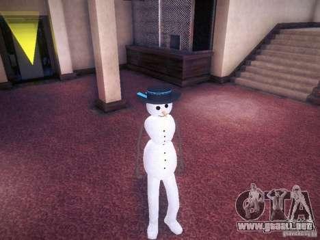 Muñeco de nieve para GTA San Andreas
