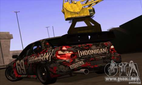 Subaru Impreza WRX STi Gymkhana para GTA San Andreas interior