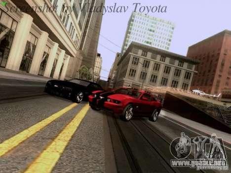 Ford Mustang GT 2011 para vista lateral GTA San Andreas